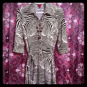 Zebra pattern dress